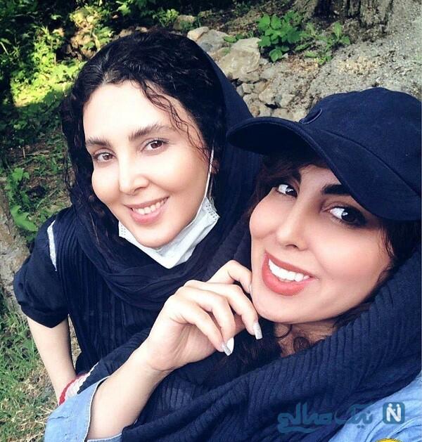 عکس جالب از شباهت لیلا بلوکات به خواهرش