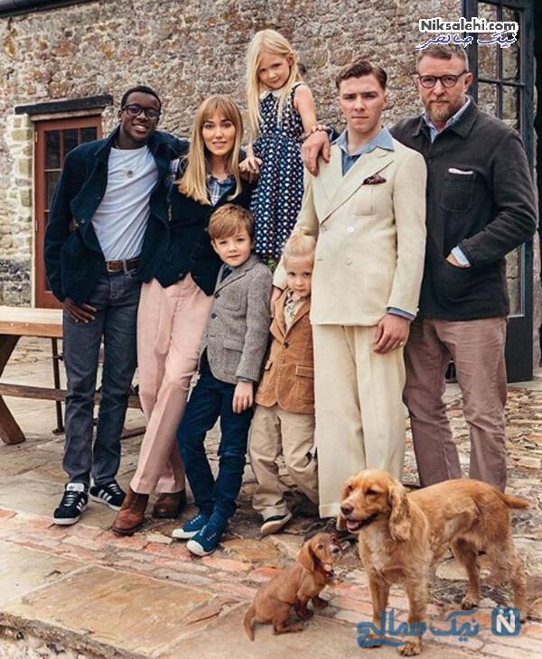 گای رچی و همسر و فرزندانش