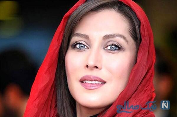 ست زیبای ماسک با لباس مهتاب کرامتی بازیگر زن