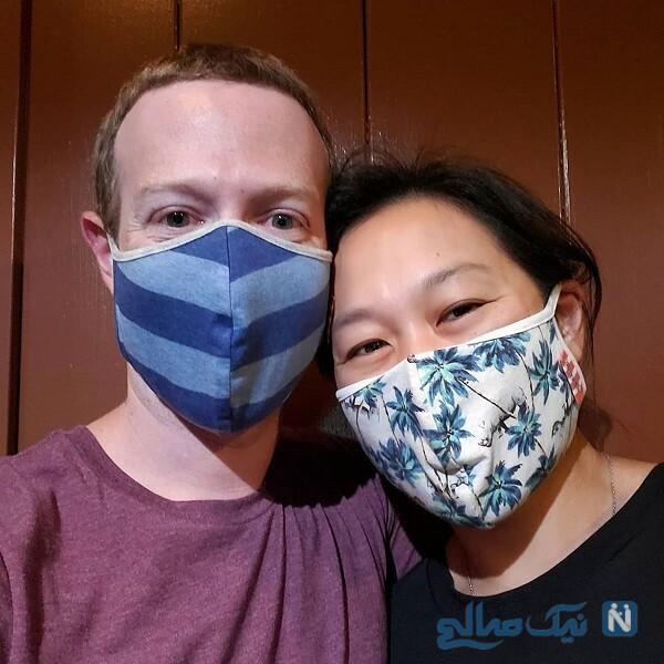 ماسک های جالب مدیر عامل فیس بوک و همسرش
