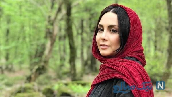 مریم خدا رحمی و بازیگران در پشت صحنه سریال دخترم نرگس