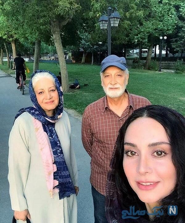 مریم خدارحمی و مادرش درکنار محمود پاک نیت