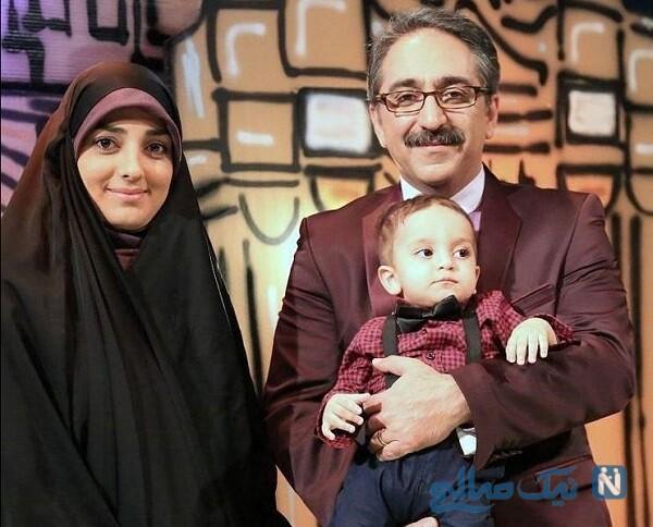 ستاره سادات قطبی درکنار همسر و پسرش