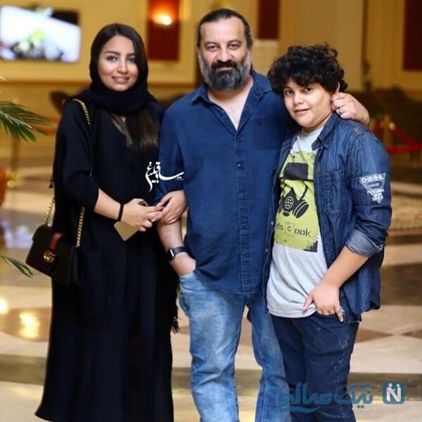 مهراب قاسم خانی و دخترش و پسرش