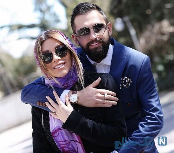 حمام رفتن محسن افشانی و همسرش سویل