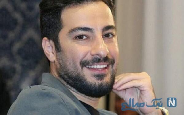 نوید محمد زاده بازیگر فیلم ابد و یک روز در کنار پدر و مادرش