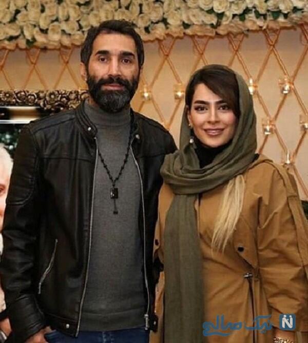 عکس سمانه پاکدل و همسرش