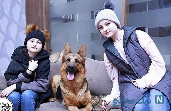 دوقلوهای پایتخت درکنار حیوان خانگی شان