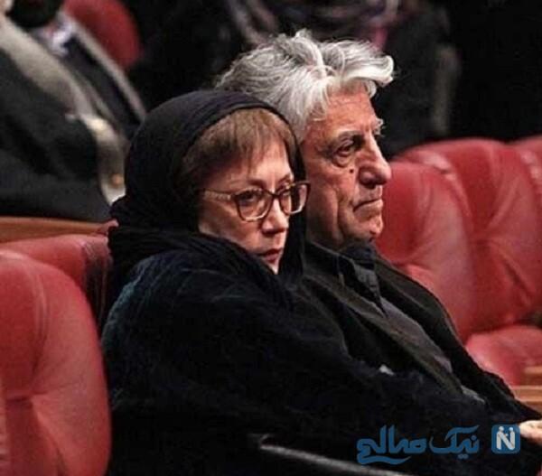 تصویری از رضا کیانیان و همسرش