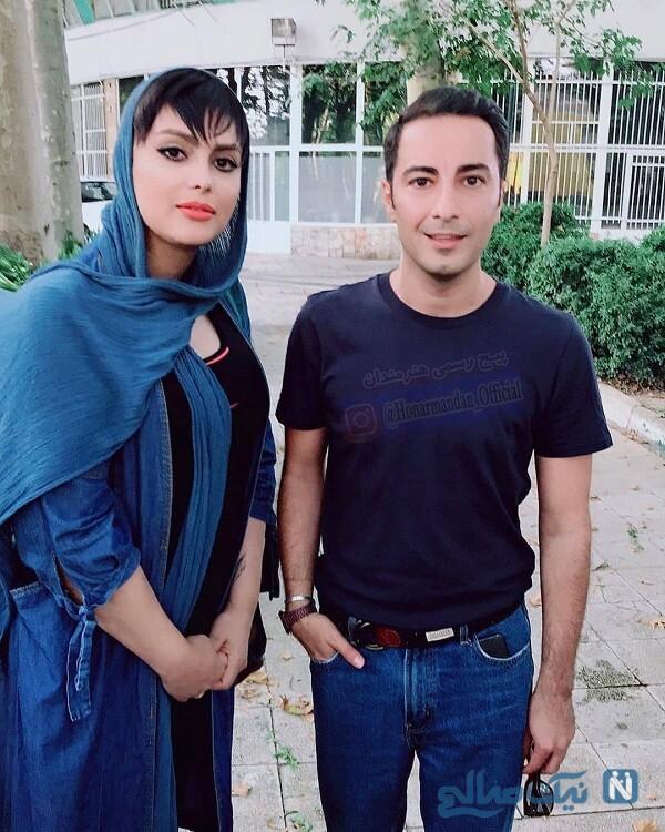 نوید محمدزاده درکنار پسری که تغییر جنسیت داد
