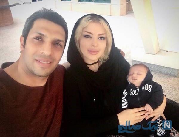 همسر و فرزند آقای فوتبالیست