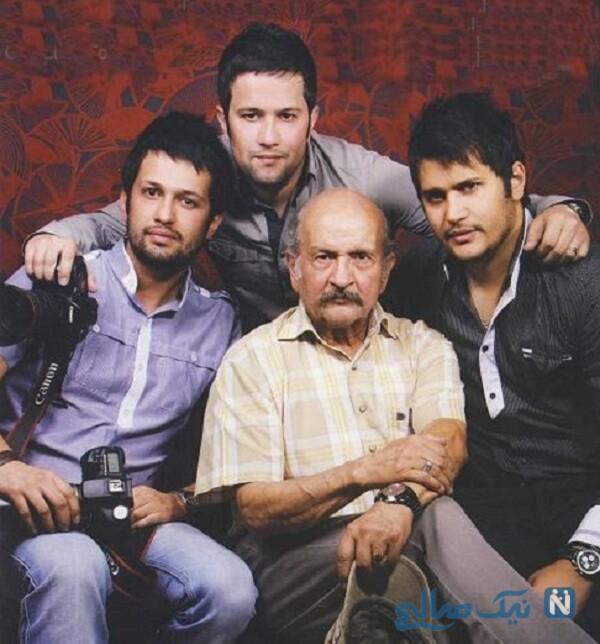 سیاوش خیرابی و برادرانش در کنار پدرشان