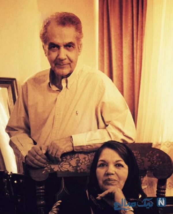 سیمین غانم خواننده و همسرش