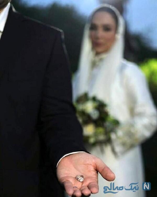 حلقه ازدواج خانم بازیگر