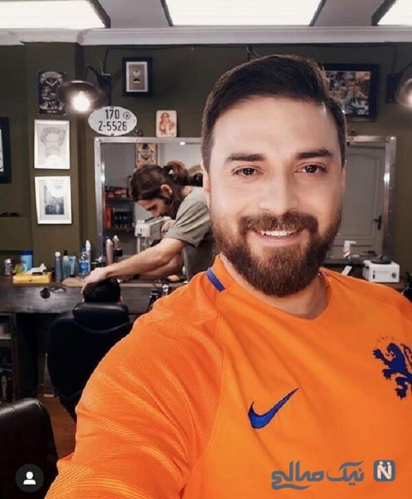 پسر خواننده معروف در آرایشگاه