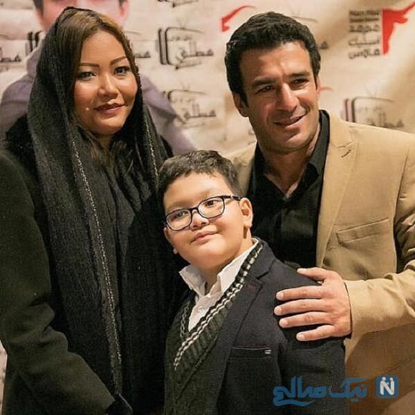 آقای بازیگر درکنار همسر و پسرش