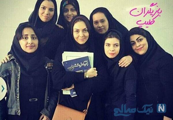 آزاده نامداری و عکس دانشجویی بازیگران