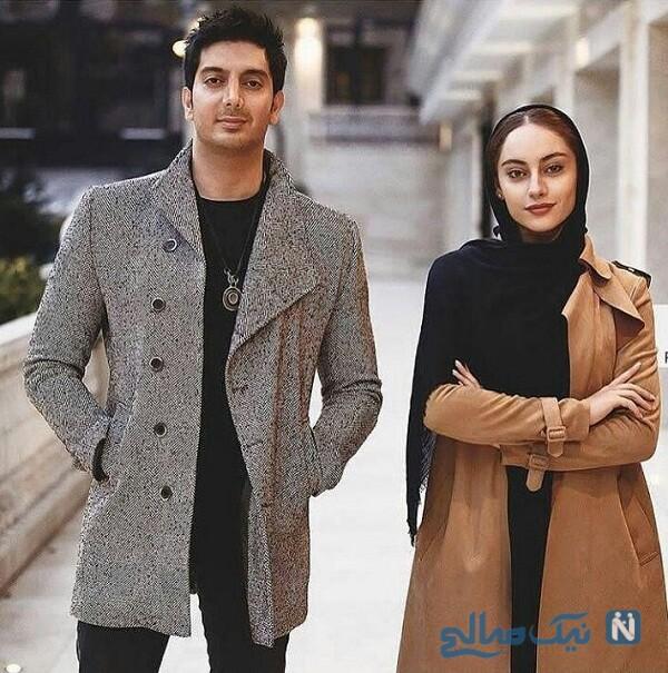 خانم بازیگر و فرزاد فرزین