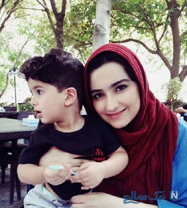 عکس زهرا خاتمی راد مجری و پسرش