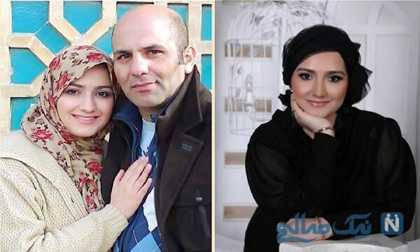زهرا خاتمی راد مجری و همسرش
