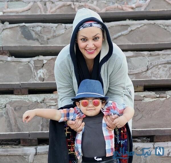بازیگر زن و پسرش