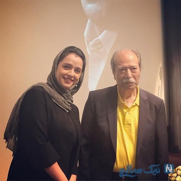 علی نصیریان و بازیگر زن