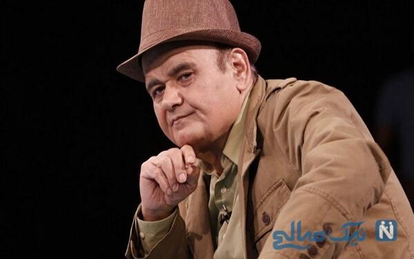 شباهت جالب اکبر عبدی بازیگر معروف به مادرش