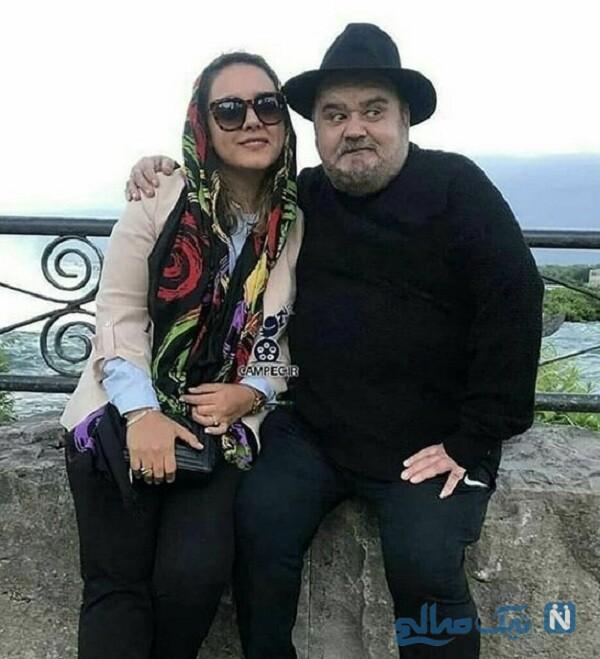 عکس جدید اکبر عبدی و دخترش