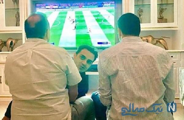 فوتبال بازی کردن علی اوجی و آقای بازیگر