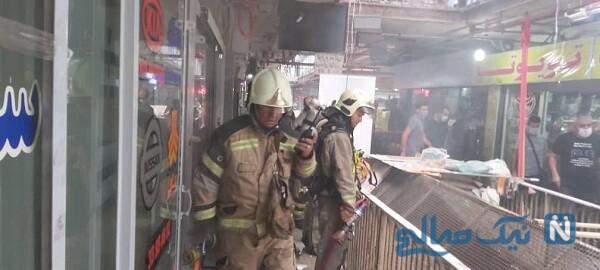 آتش سوزی در قلب تهران