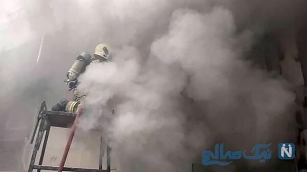 آتش سوزی هولناک در مرکز تجاری خیابان امیرکبیر تهران