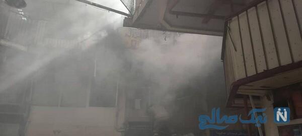 حادثه اتش سوزی خیابان امیرکبیر