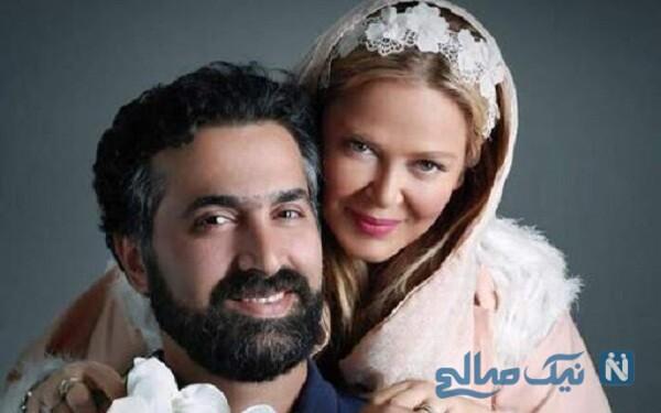 جشن بهاره رهنما و همسرش به مناسبت سالگرد ازدواجشان