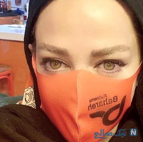 ماسک جدید خانم بازیگر