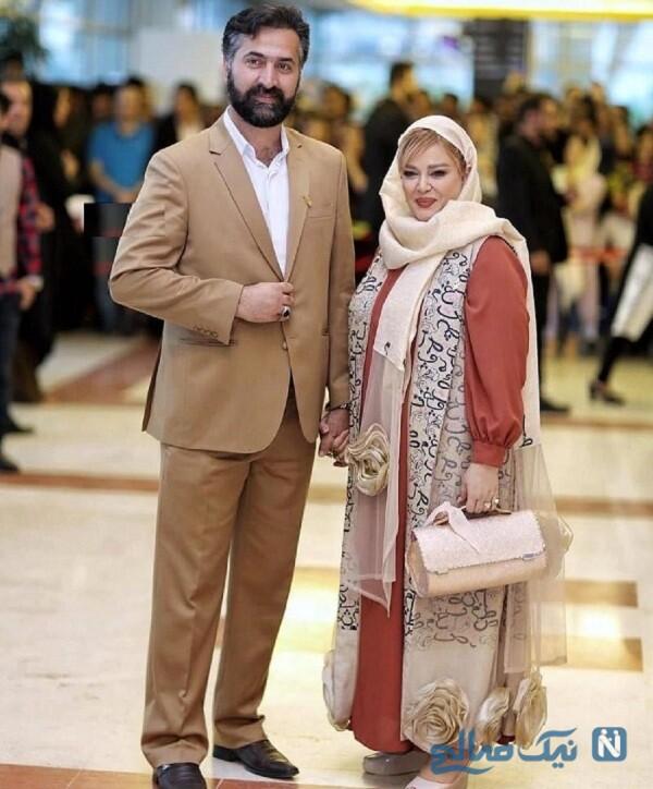 لباس زیبای بهاره رهنما و همسرش