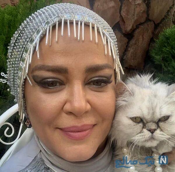 عکس سلفی بهاره رهنما و حیوان خانگی اش
