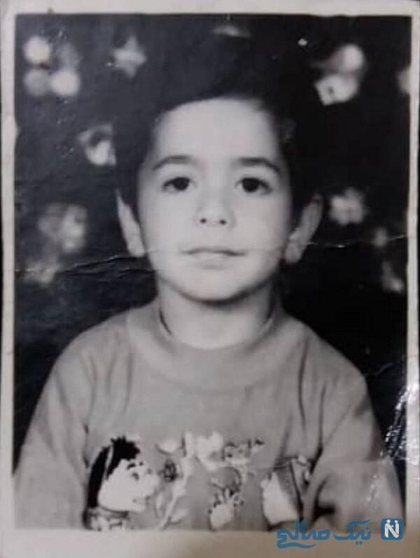 رضا بهرام در 4 سالگی