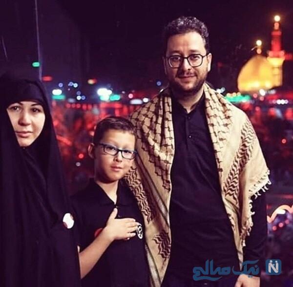 همسر و پسر سیدبشیر حسینی