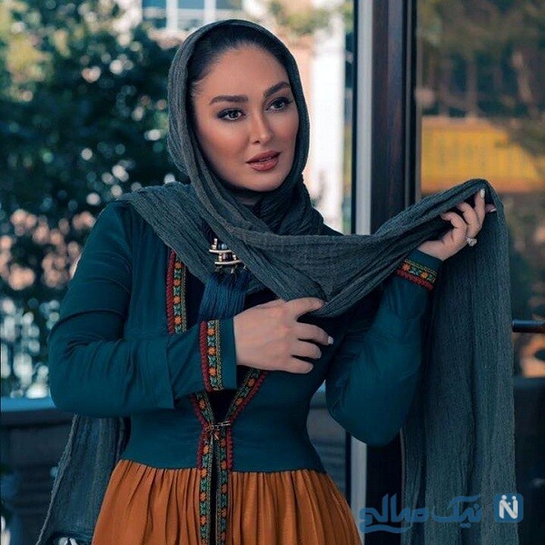 الهام حمیدی بعد از زایمان در مزون لباس
