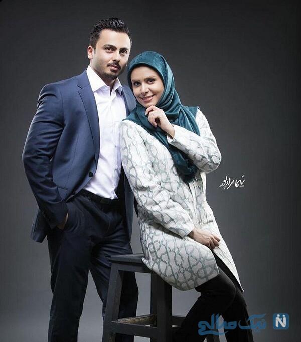 نجمه جودکی و همسرش