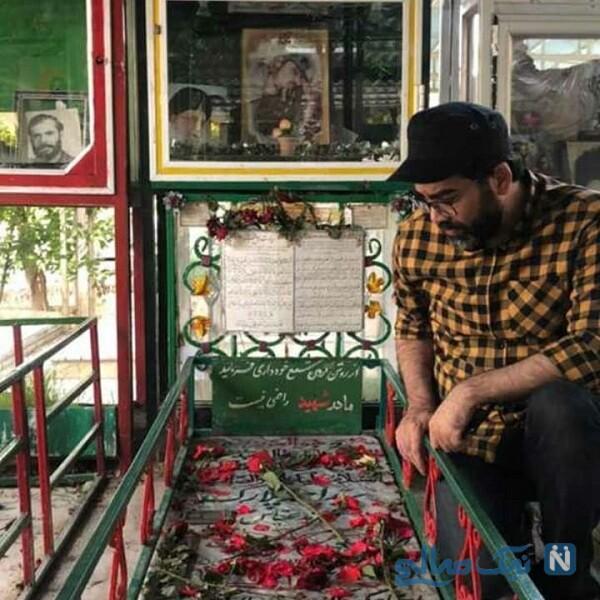 فرزاد حسنی در مزار شهدا