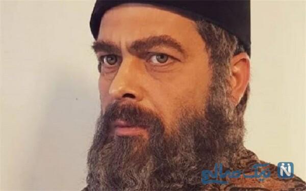 تصویری از گریم پژمان بازغی در نقش امیرکبیر