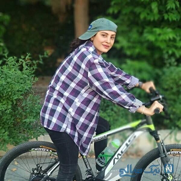 دوچرخه سواری حدیثه تهرانی