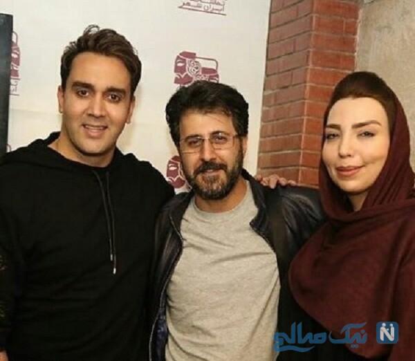 هومن حاجی عبداللهی و همسرش درکنار پوریا پورسرخ
