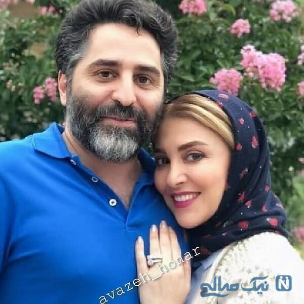 محسن رجبی و همسرش