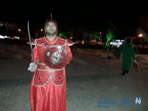 محمود خسرو منش با لباس شمر
