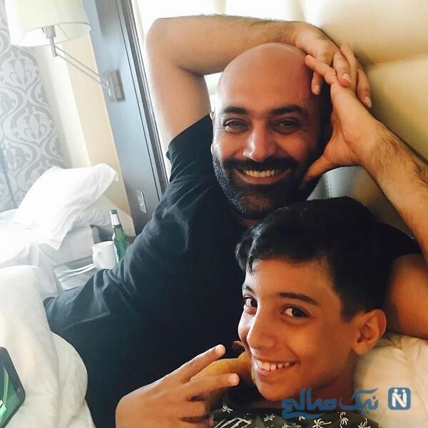 بازیگر مرد و پسرش