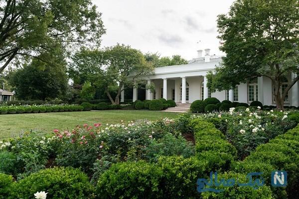 رونمایی ملانیا ترامپ بانوی اول از باغ گل رز کاخ سفید