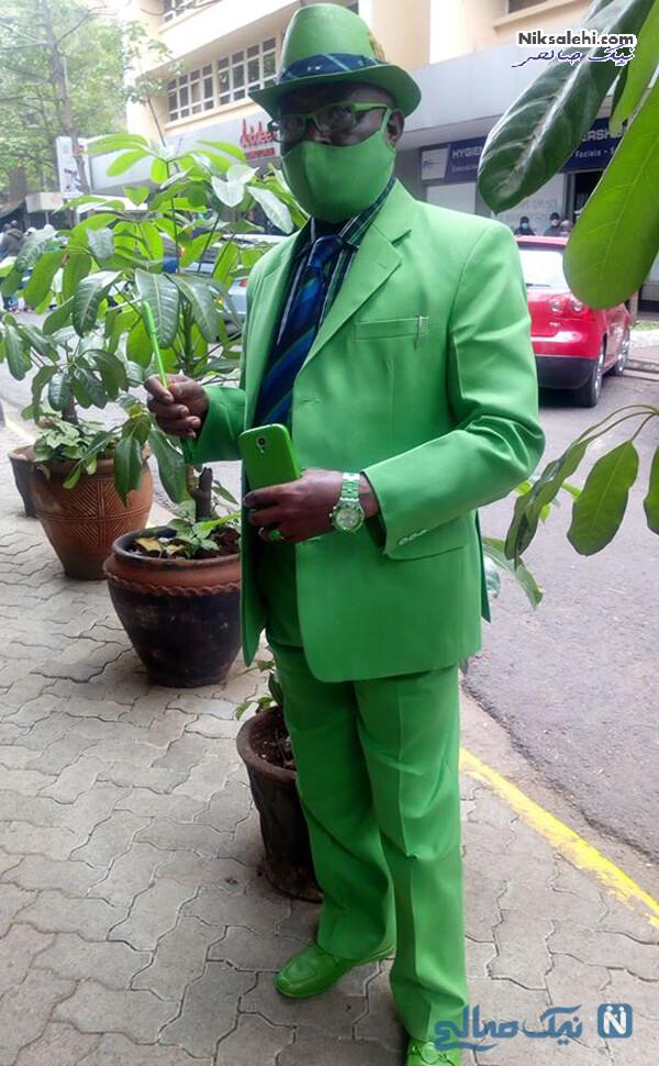 کت و شلوار و کفش و حتی قاب گوشی سبز