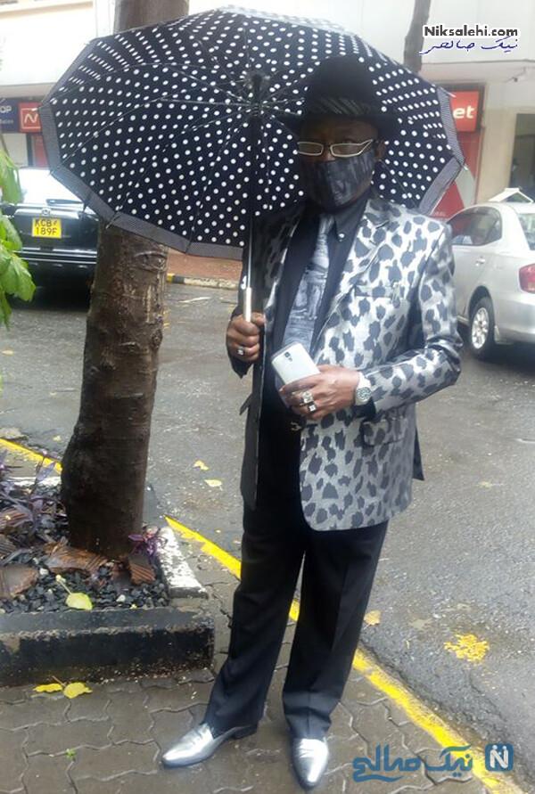 ست کت و شلوار و چتر
